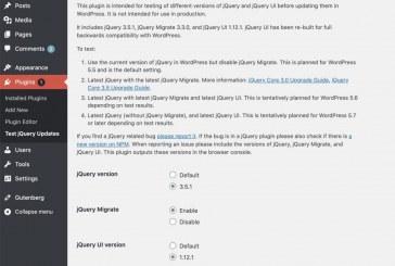 Aktualizace jQuery ve WordPress 5.5 a vyšších